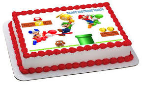 mario cake toppers stunning ideas edible birthday cake decorations exclusive