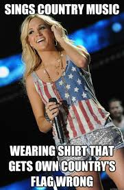 Country Meme - sings country music wearing shirt that gets own country s flag