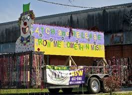 parade throws catch and release trailer brings instant mardi gras bead recycling