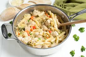 one pot creamy chicken and vegetable pasta recipe