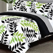 Black And Green Bedding Black White Gray Green 8 Piece Comforter Bed Set King Size Bedding