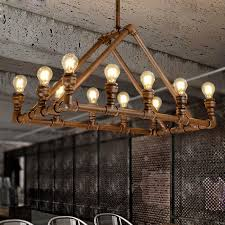 Bar Light Fixture 12 Light Industrial Modern Lighting Bar Counter