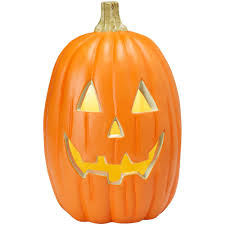 home accents holiday 16 in blow mold jack o lantern scare face