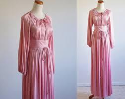 vintage dress 70 s slinky draped disco dress etsy