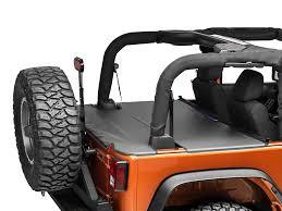jeep wrangler cer top j tops usa wrangler tonneau cover black jk ton solid black 07