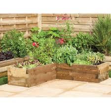 forest garden caledonian corner raised bed planter fsc timber frame