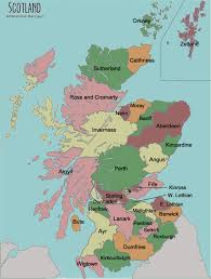 map of scotland and test your geography knowledge scotland counties lizard point
