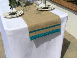 decorating simple and natural fall burlap table runner for table