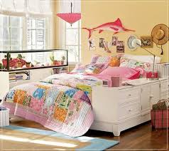 bedroom design for teenage white cloud pattern furnitures
