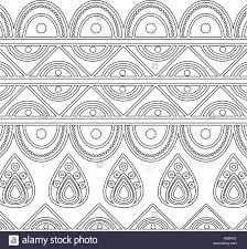 indian ornamental ethnic motifs decoration template stock