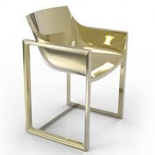 chaise dorée fauteuil restaurant extérieur wall gold métallisé doré de vondom
