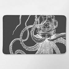 Nautical Bathroom Rugs Octopus Bathroom Nautical Bath Rug Octopus Bath Mat Nautical