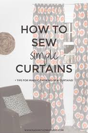 Design Your Own Curtains Sewing Simple Curtains Sew Simple Learning And Studio