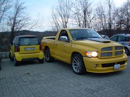 nissan titan vs dodge ram yellow smart vs yellow fever dodge ram srt 10 forum viper