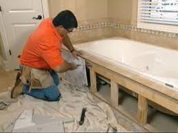 Diy Tile Bathtub Claw Foot Tub Installation Surround Demolition How Tos Diy