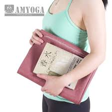 Easy to fold anti slding super thin travel yoga mat in rubber foam