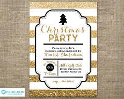 gold glitter christmas party invitation christmas invitation