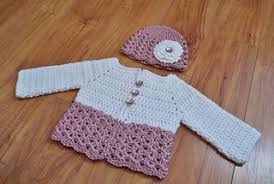 crochet baby sweater pattern ravelry button me up baby sweater hat pattern by carlinda lewis