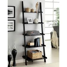 furniture narrow ladder shelf leaning bookcase leaning