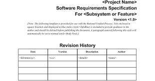 template software requirements specification rup ingenieria de