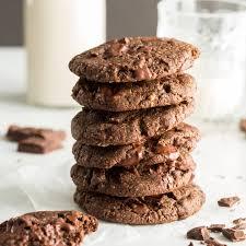 one bowl double chocolate chunk cookies u2014 oh she glows