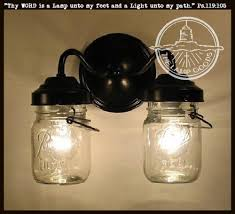 exterior mason jar wall sconce light with vintage jar the lamp goods