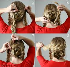 wedding hairstyles step by step instructions easy flower braid up do interestingfor me
