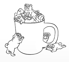 coloring pages of pugs funycoloring