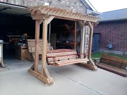 image of free porch swing plans and tips covered front rollback