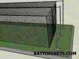 Batting Cage For Backyard by Typical Batting Cage Cable Line Setup For A Standard Size Batting