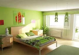 warm table lamp on the desk paint horizontal lines in your bedroom