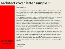 cover letter for architect architect cover letter