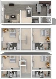Townhome Floor Plan by Louisiana State University 4 Bedroom Student Townhomes For Rent