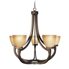 5 Light Bronze Chandelier Woodbridge Lighting Wayman 5 Light Bronze Chandelier 100055839959