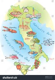 Map If Italy by Food Map Italy Vector Stock Vector 84689686 Shutterstock