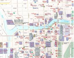 Bike Map Chicago by Maps Update 14882105 Tourist Map Of Chicago U2013 Chicago Printable