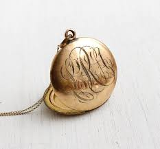monogram locket necklace 12 best images about pretty on antiques all