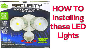 outdoor security motion lights installing a motion detector led light plus wire nut lesson youtube