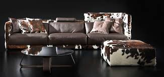 Cow Leather Sofa Layer Modular Handmade Leather Sofa Shop Italy Design