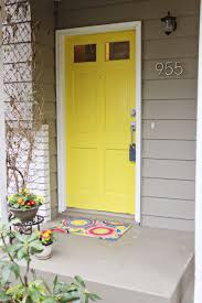 yellow doors bricks and on pinterest decorative hanging flowering