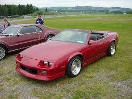 1987 chevrolet camaro z28 chevrolet camaro z28 convertible ruby front corner high