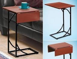 c sofa table tray tables slide side sofa snack fliptop