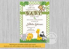 baby safari jungle animals baby shower invitations jungle