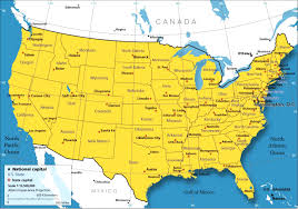 map of usa with major cities major cities in the usa enchantedlearningcom blank map of major
