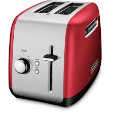 Toaster With Clear Sides Kitchenaid 2 Slice Red And Silver Toaster Kmt2115er The Home Depot