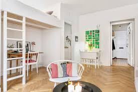 355 square feet minimalistic 355 square foot studio apartment in stockholm is