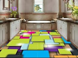 3d floor painting custom 3d stereo color squares abstract 3d floor