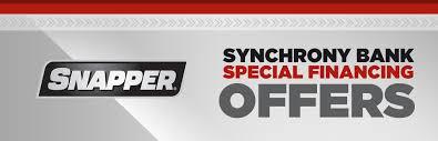 snapper synchrony bank special financing offers joe u0027s lawn mower