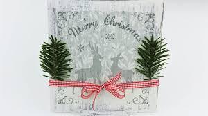 decoupage christmas decorations wooden board fast u0026 easy