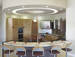 Kitchen Ceiling Design Ideas Advantages Of Kitchen Gypsum Ceiling Design With Mini Pendant